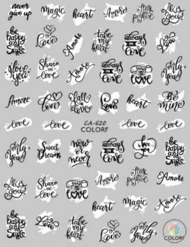 Наклейки ColoRF, надписи/значки
