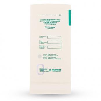 Пакеты бумажные самокл. 75*150мм, 100шт СтериМаг (белые)